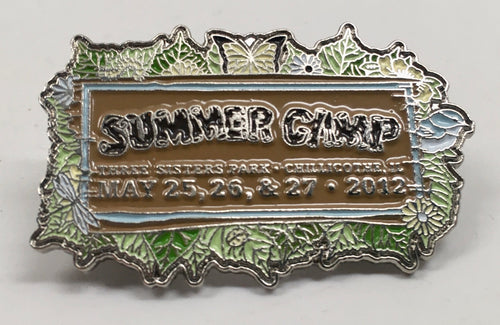 Summer Camp Pin (Silver, Vintage 2012)