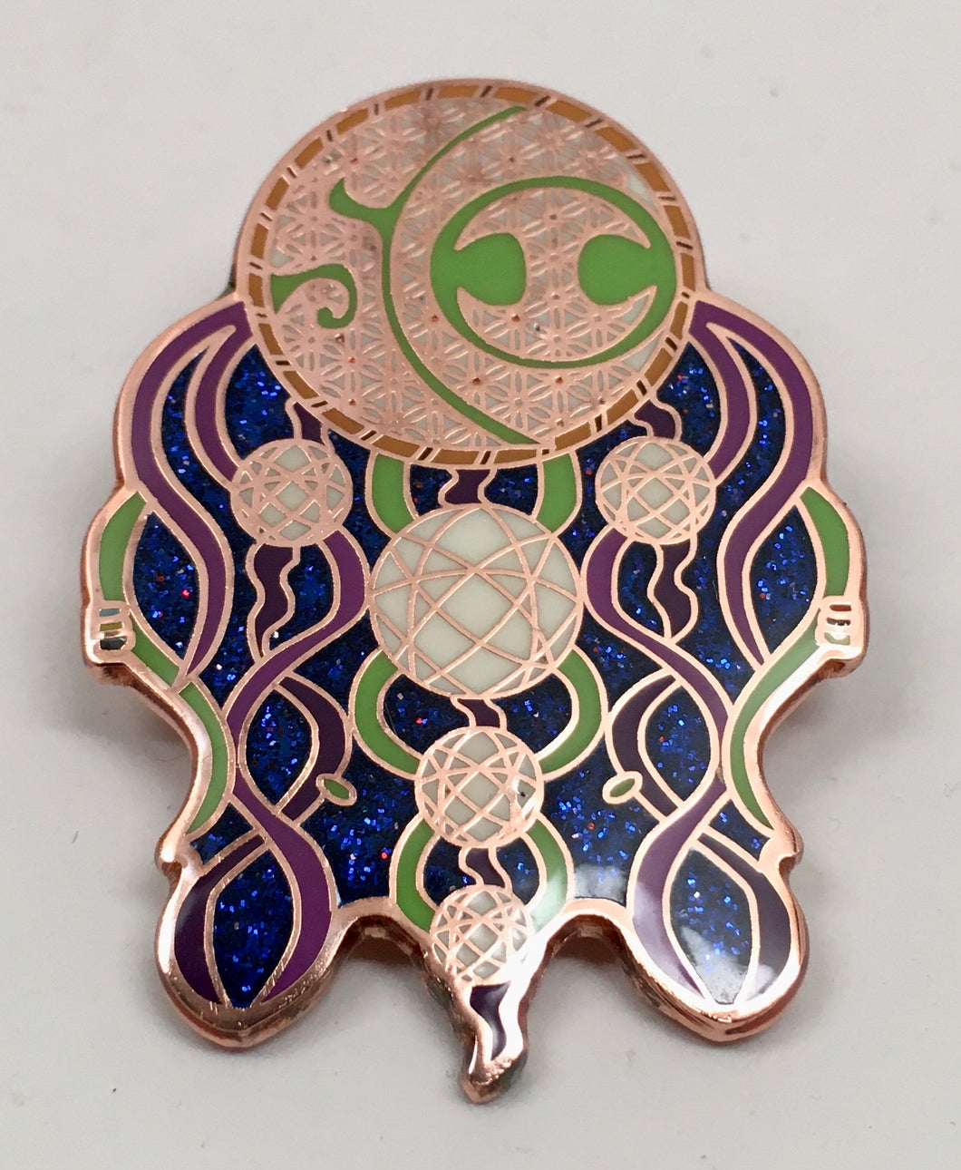 SCI Jellyfish Pin (Copper, Vintage 2014)