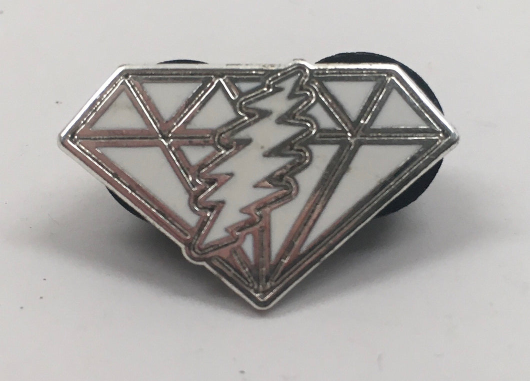 GD Dupree's Diamonds Blues Pin (Silver w/ White)