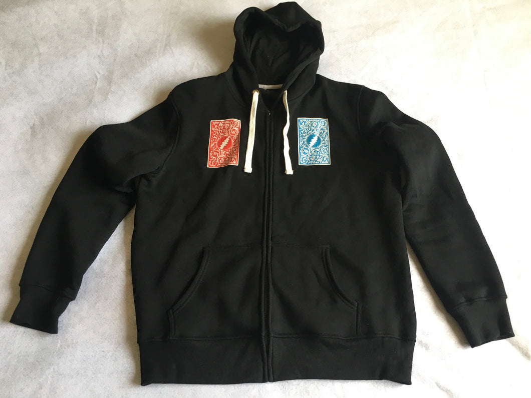 Deal Hoodie (Velvet Back + Screenprint Front, Large, Sample Vintage 2011, Only 1 of 1)