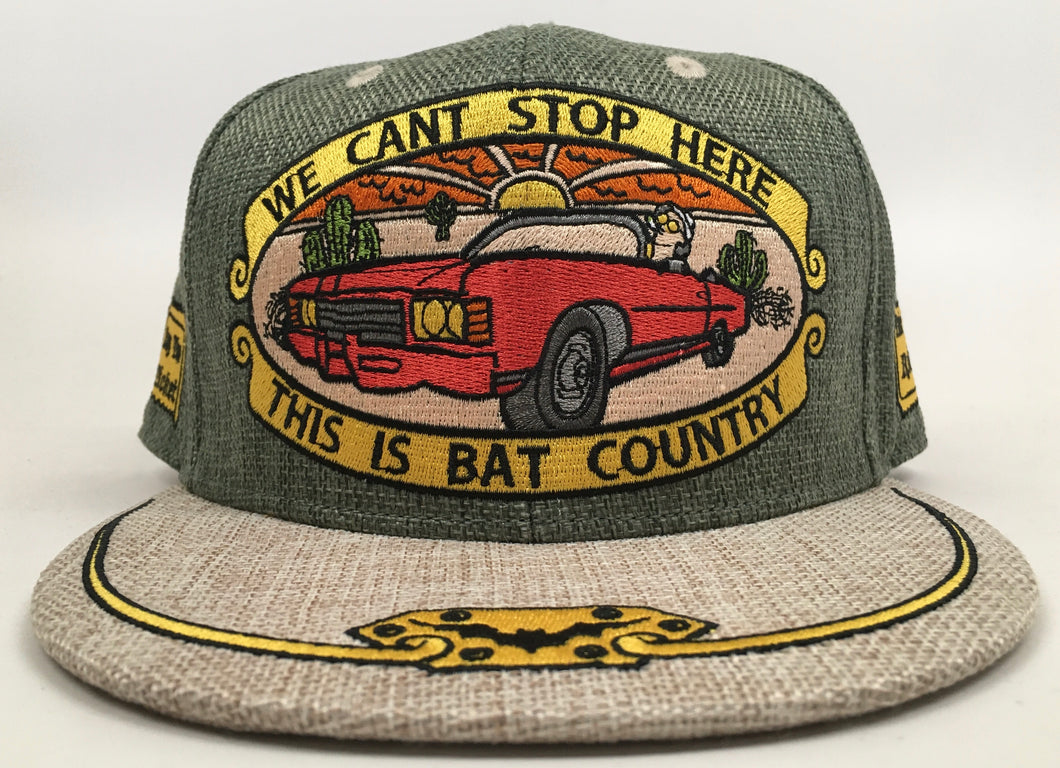 Bat Country Hat (Green, Vintage, Missing Top Button, Size 7 5/8)