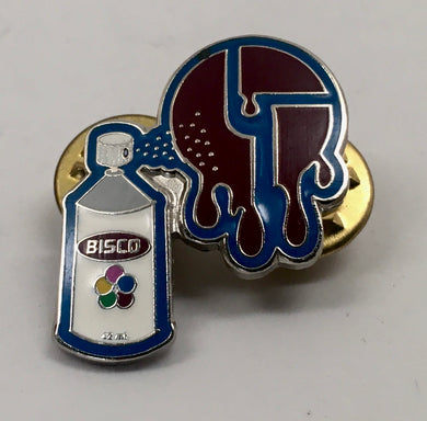 Bisco Spraypaint Pin (Silver, Vintage 2009)