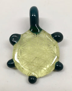 Sacred G Glass Pendant (Green, Blue)