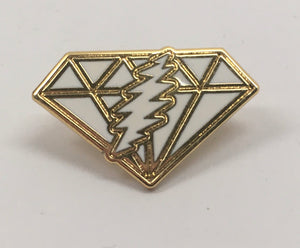GD Dupree's Diamonds Blues Pin (Gold w/ White)