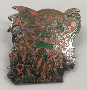 Smoking Dead Bear Pin (Orange, Vintage 2014)