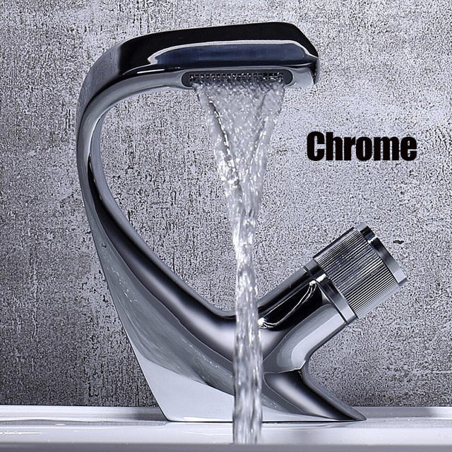 Chrome Basin sink Faucet Black Brass Hot and Cold Single Handle Basin Mixer Tap Deck Mounted Bathroom Faucets Sink Faucet