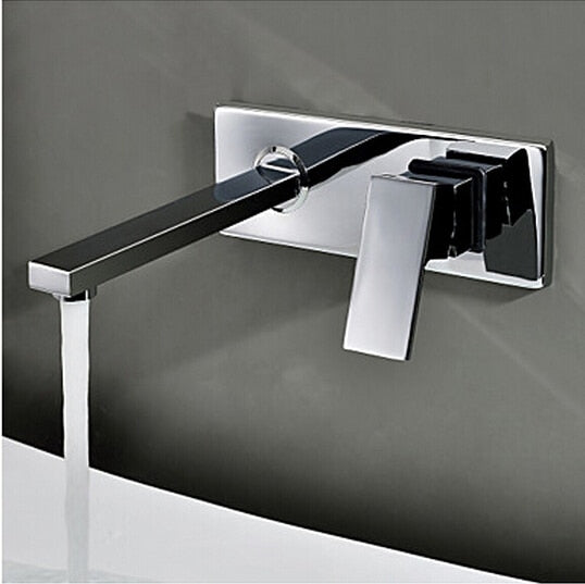 Three piece set flush faucet Bathroom cabinet basin mixer