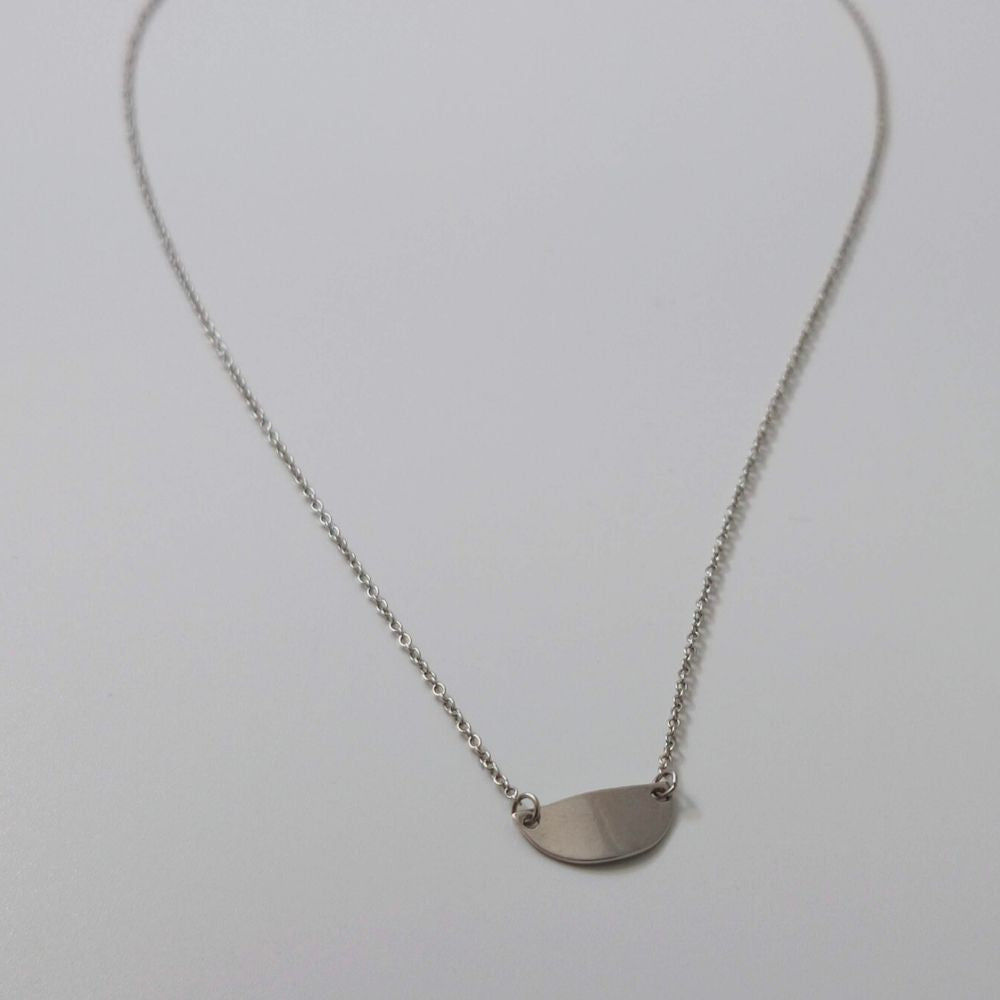 Half Moon Disc Necklace