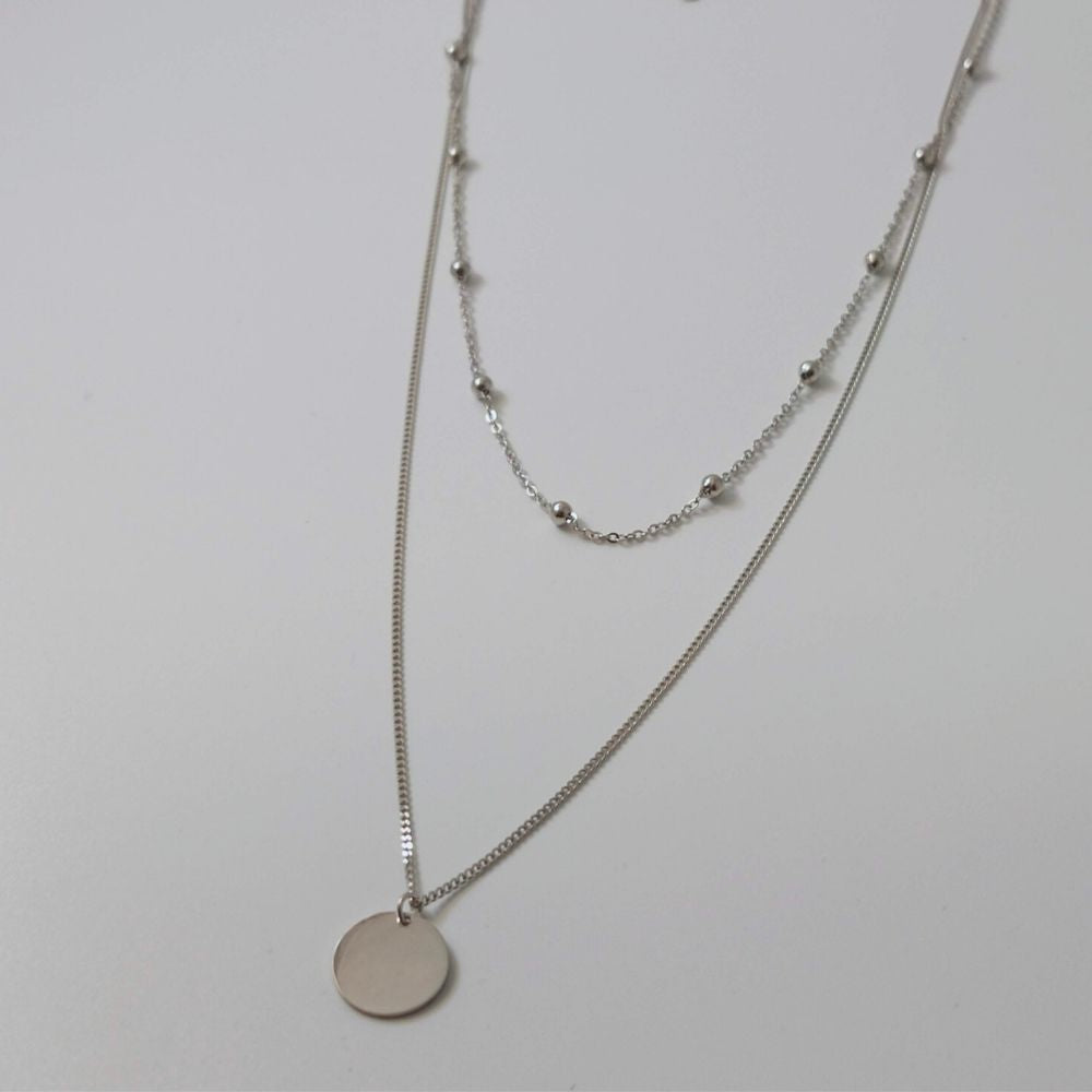 Layered Double Chain Necklace