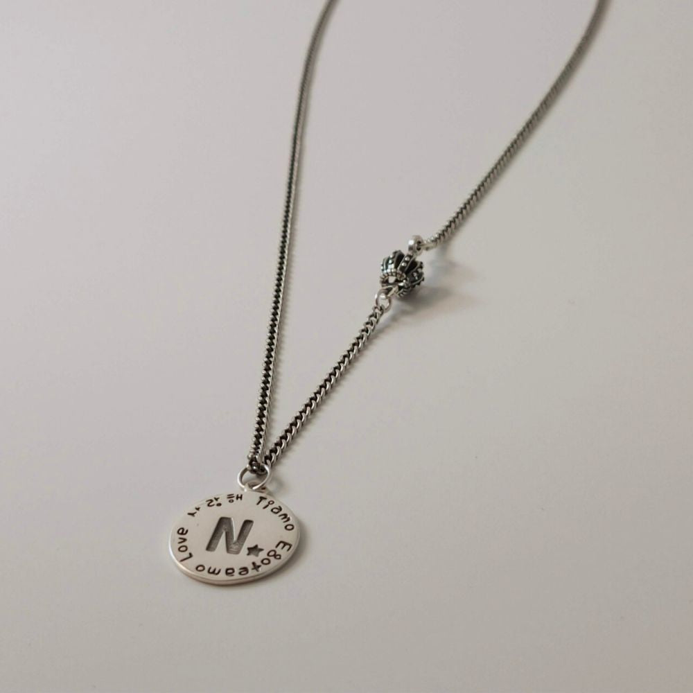 Letter Love Crown Necklace