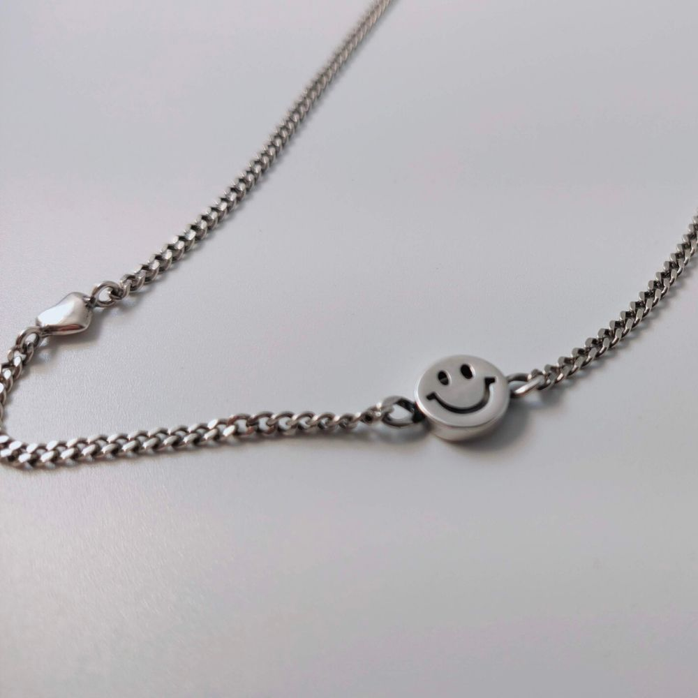 Smiley Face Heart Necklace