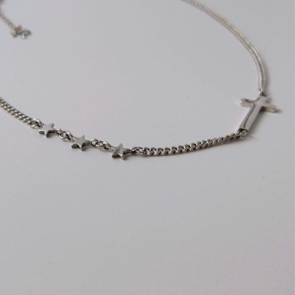 Women's Sterling Silver Cross Necklace