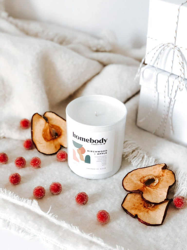 Birchwood + Apple Soy Candle