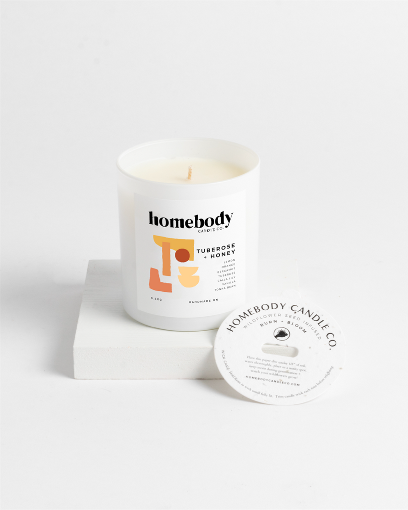 Tuberose + Honey Soy Candle