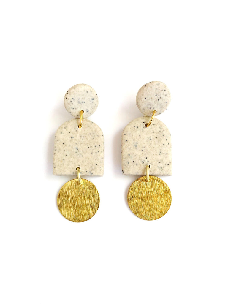 Dome Earrings - Sand