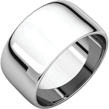 10mm Half Round Wedding Band - I Heart Moissanites