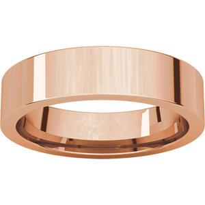 5mm Flat Comfort Fit Wedding Band - I Heart Moissanites