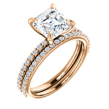 Asscher Claw Set Style Engagement Ring