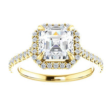 Asscher Halo Style Engagement Ring