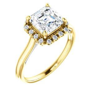 Asscher Halo Style Engagement Ring - I Heart Moissanites