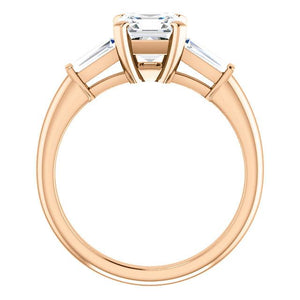 Assher Accent Engagement Ring - I Heart Moissanites
