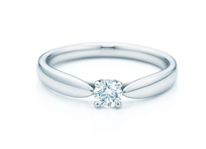Custom 18K White Gold 0.30ct Round Diamond Engagement Ring #273