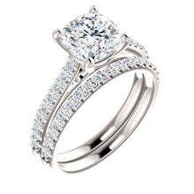 Cushion Claw Set Style Engagement Ring