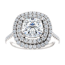 Cushion Double Halo Style Engagement Ring