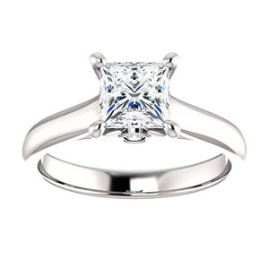 Four Claw Princess Solitare Engagement Ring - I Heart Moissanites