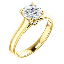 Four Claw Round Brilliant Solitare Engagement Ring - I Heart Moissanites