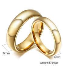 Tungsten Polished Comfort Fit His & Hers Wedding Bands