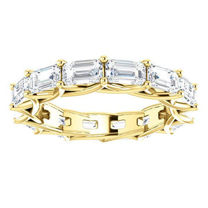 3.00ct Emerald Diamond Eternity Band