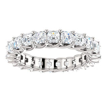 Assher Moissanite Eternity Band - I Heart Moissanites
