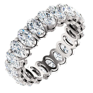 5.25ct Oval Diamond Eternity Band