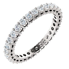 0.93ct Round Brilliant Moissanite Eternity Band - I Heart Moissanites