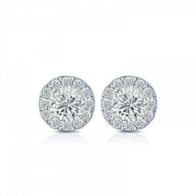 Halo Style Stud Earrings