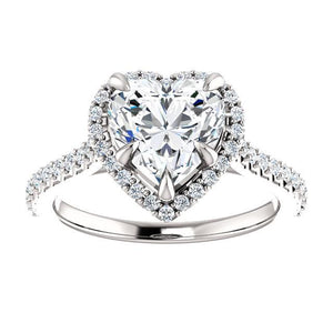 Heart Halo Style Engagement Ring