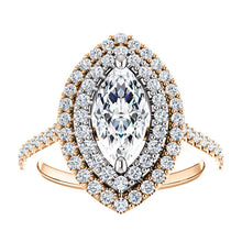 Marquise Double Halo Style Engagement Ring