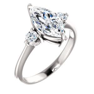 Marquise Accent Engagement Ring
