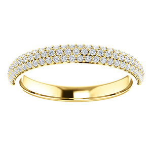 Diamond Pave Style Wedding Band
