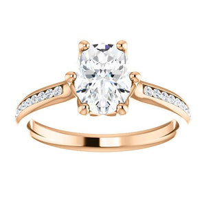 Oval Channel Set Style Engagement Ring - I Heart Moissanites