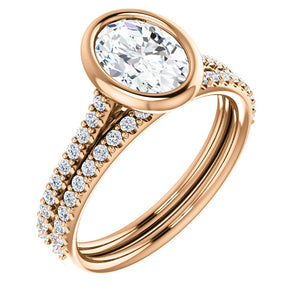 Oval Bezel Style Engagement Ring