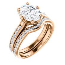 Oval Channel Set Style Engagement Ring