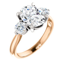 Oval Accent Engagement Ring