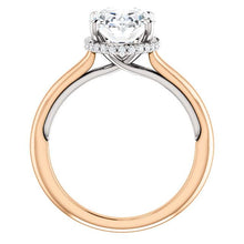 Oval Solitaire & Hidden Halo Engagement Ring