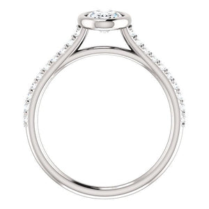 Oval Bezel Style Engagement Ring - I Heart Moissanites