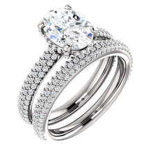 Oval Pave Style Engagement Ring