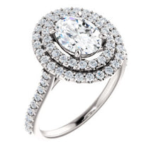 Oval Double Halo Style Engagement Ring