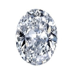 0.50ct F VVS2 Oval Lab Created Diamond