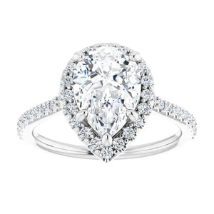 Pear Halo Style Engagement Ring